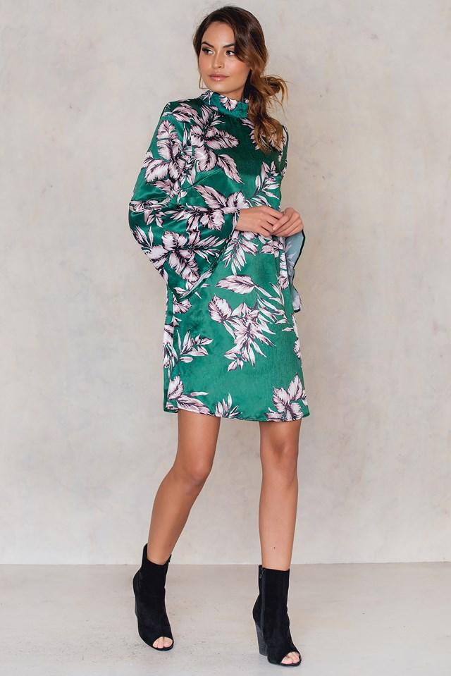 Camie Dress Emerald Print