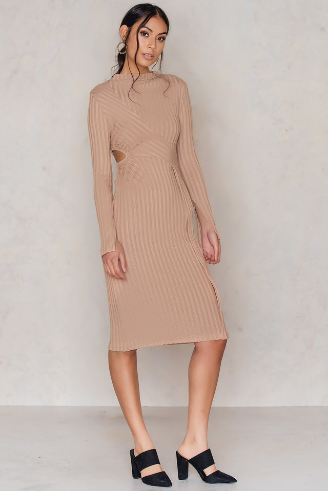 Gabi Dress Toffee Beige