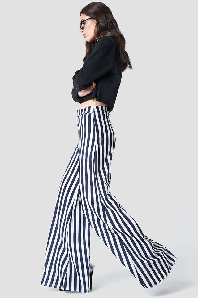 Lea Trousers Navy Stripe