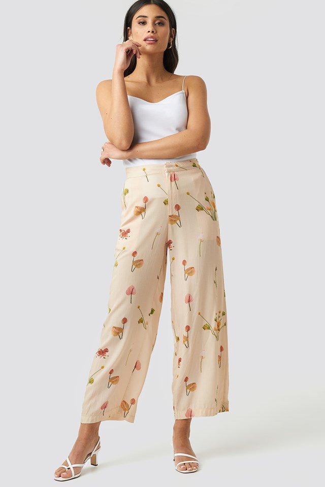 Malena Trousers Fleures Sauvages