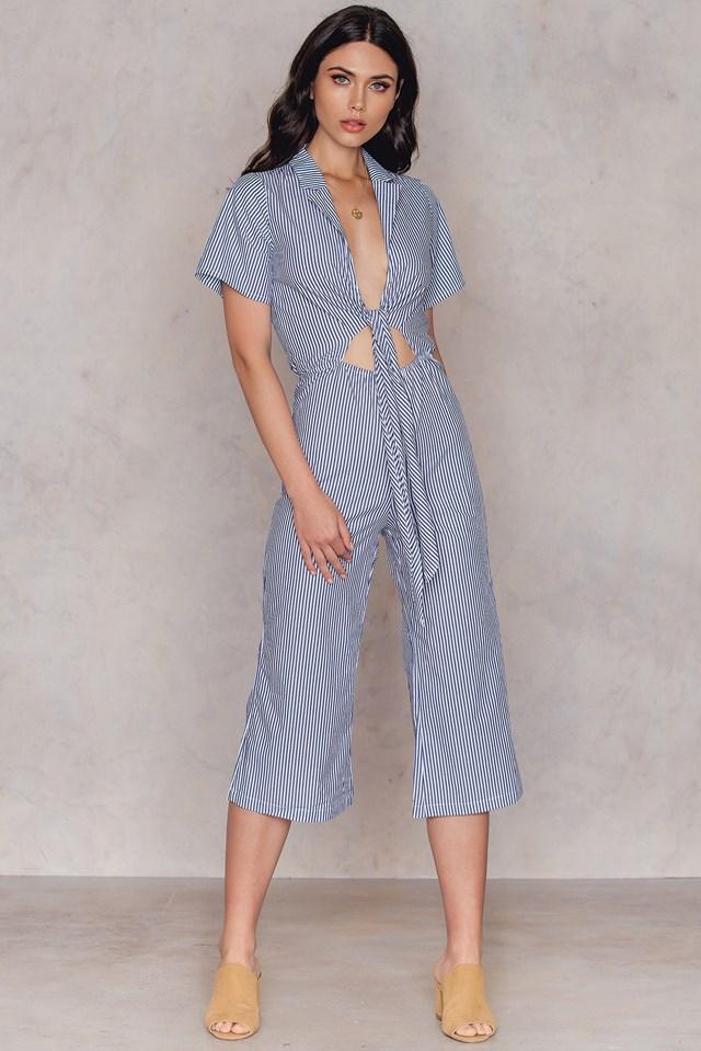 Omal Jumpsuit Blue/White