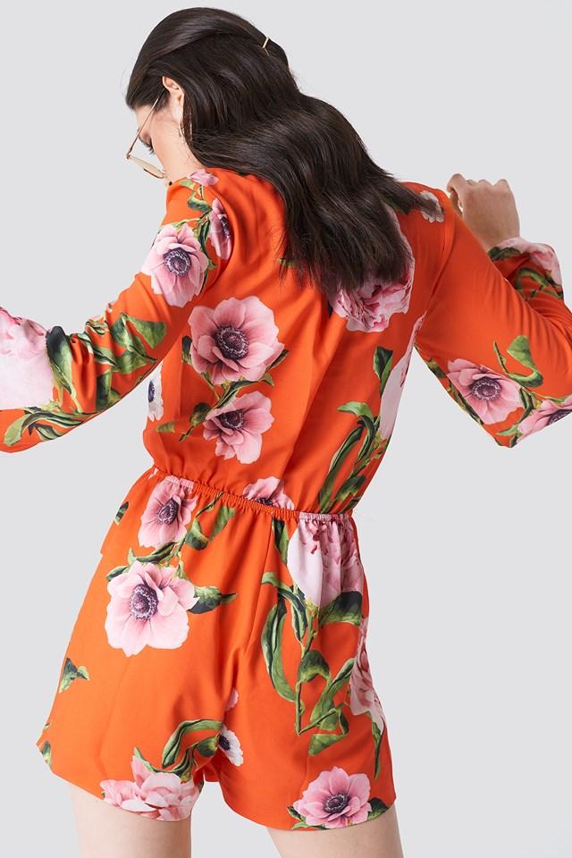 Rola Jumpsuit Flores Rojas
