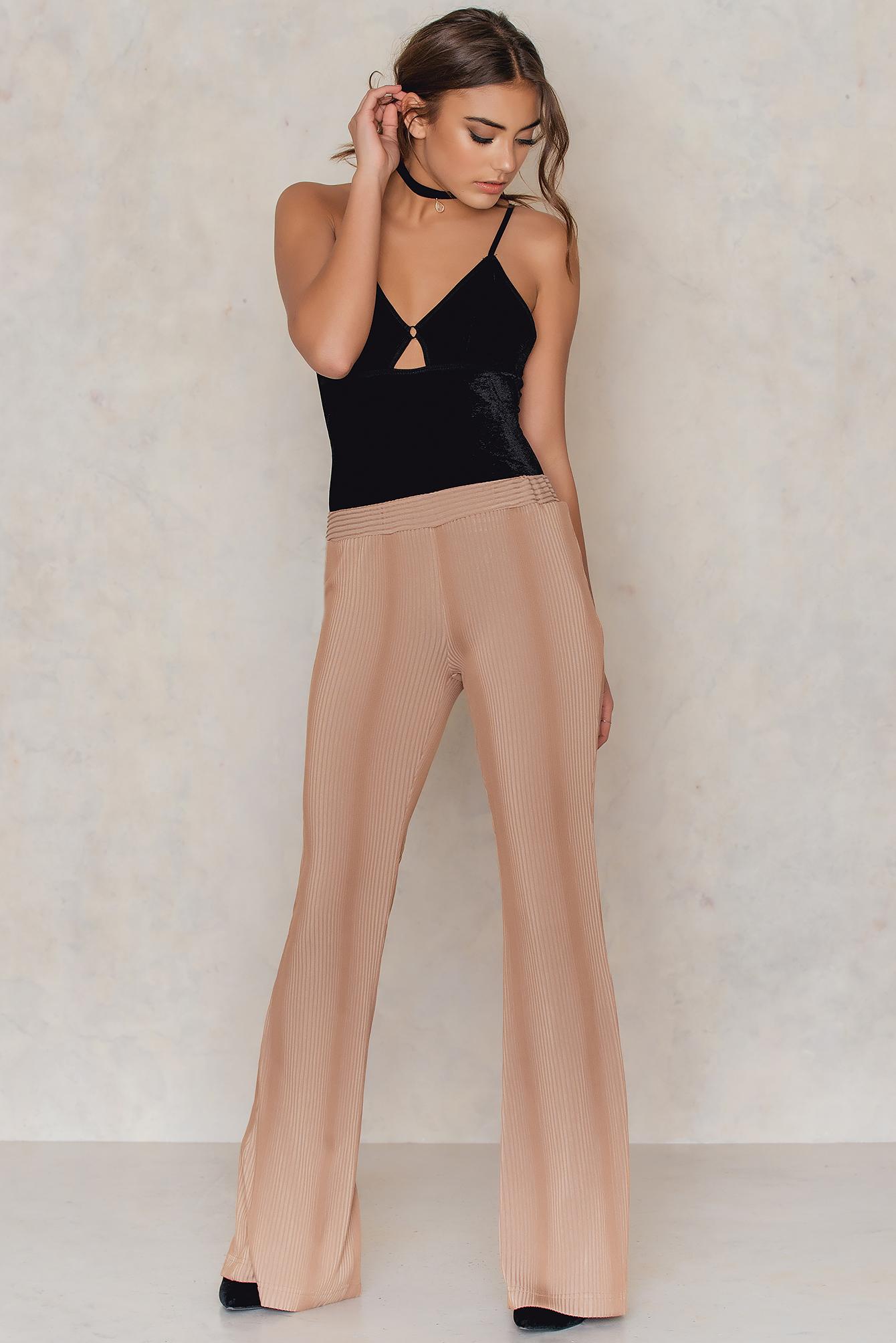 aéryne x na-kd -  Fuyu Trousers - Beige,Nude