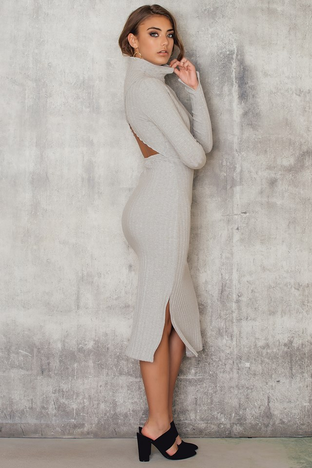 Kyna Dress Grey Melange