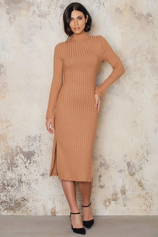 Kyna Dress Cognac