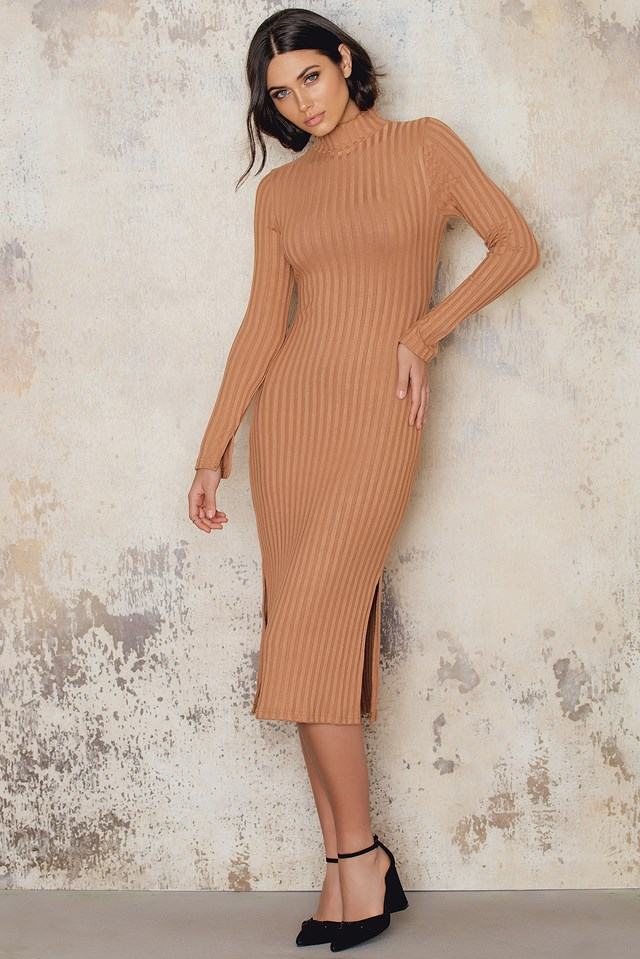 Kyna Dress Cognac