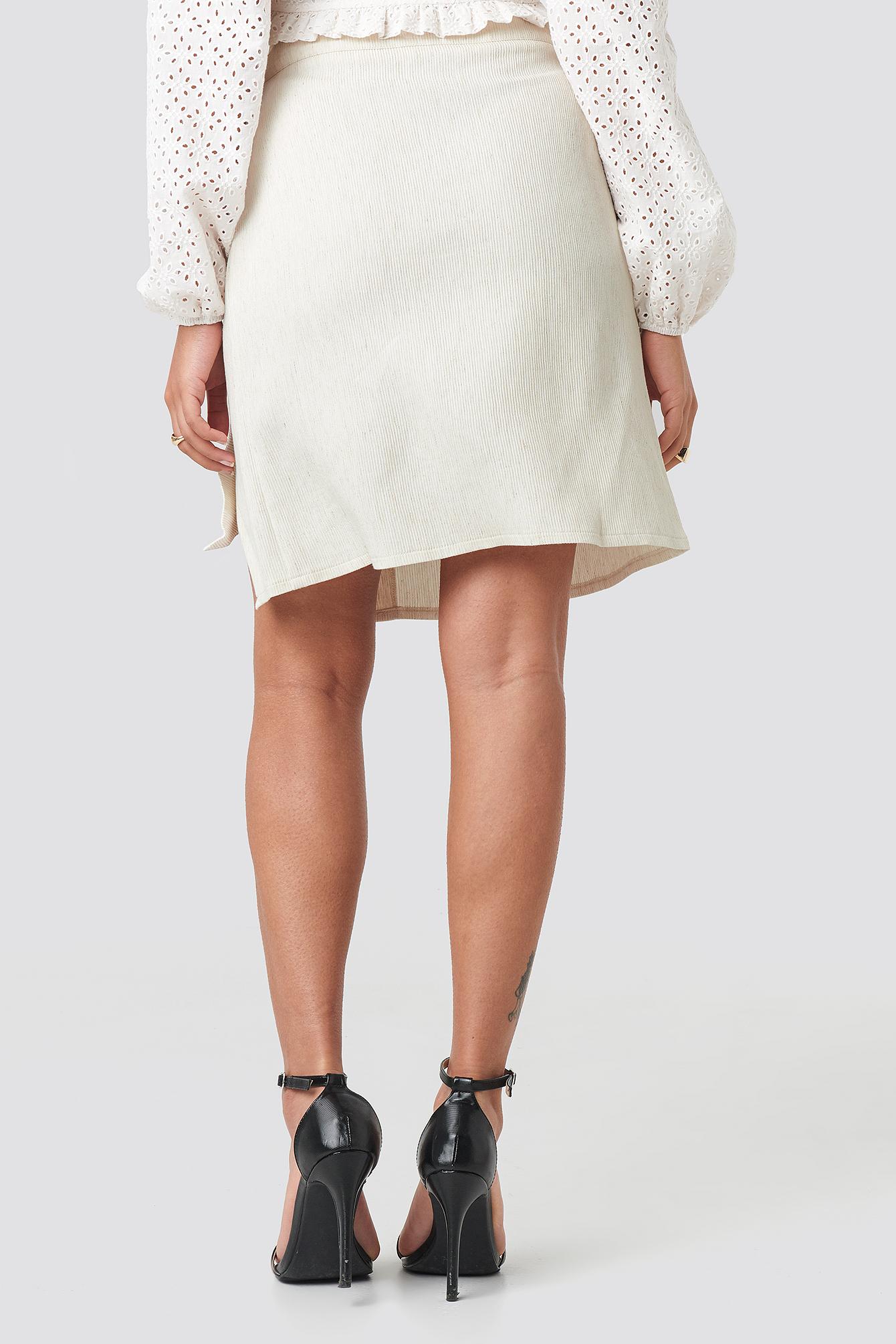 Belted Wrap Mini Skirt NA-KD.COM