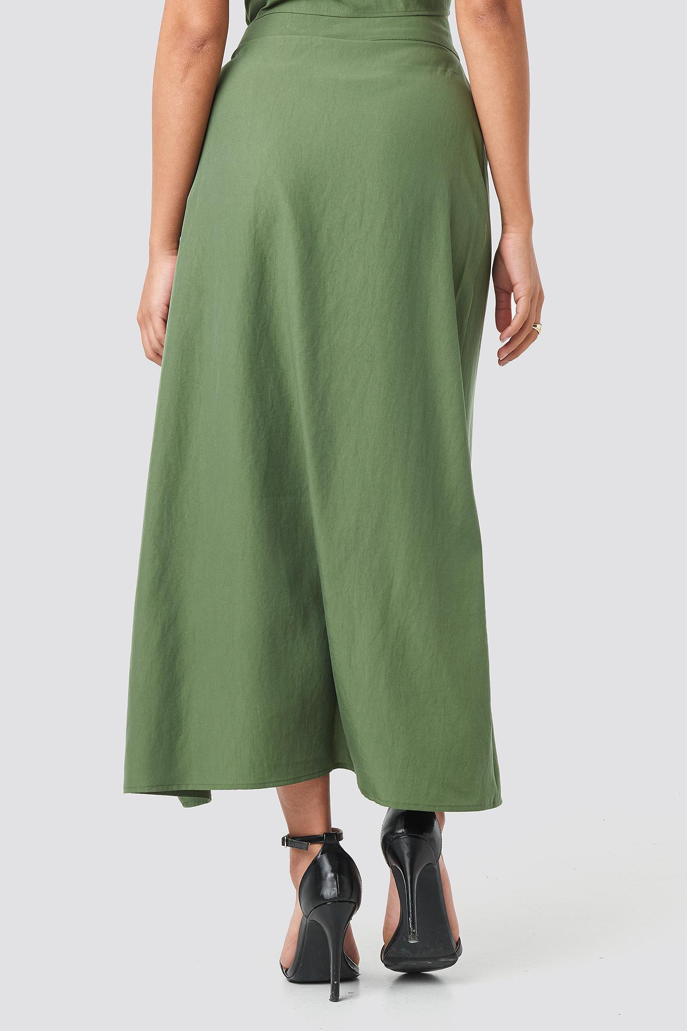 Ruffle Wrap Midi Skirt NA-KD.COM