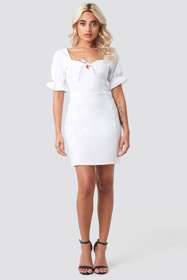 Sweetheart Mini Dress White