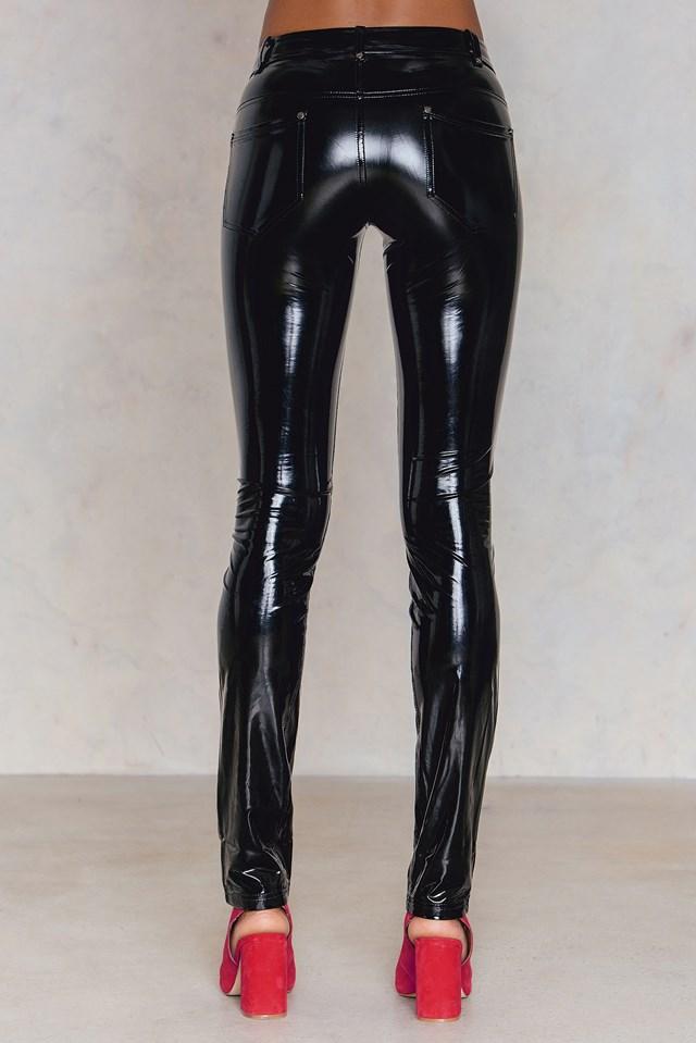 Amaya Latex Trousers Black