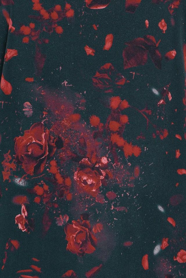 Kasumi Flower Blouse Dark Red