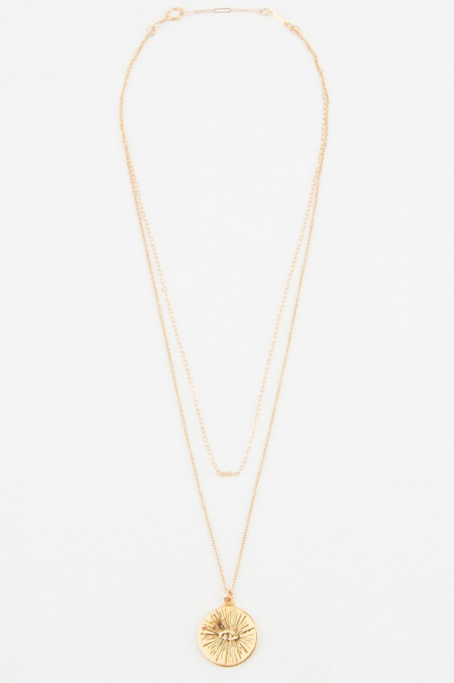 Eyenamour Double Necklace Gold