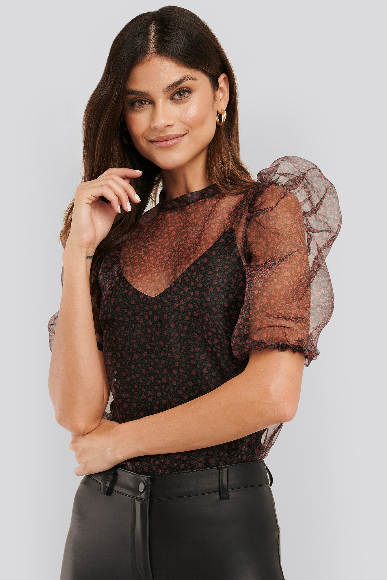 Red Amaia Blouse