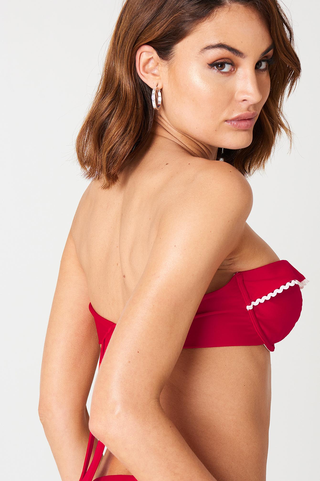 Frill Bikini Top NA-KD.COM