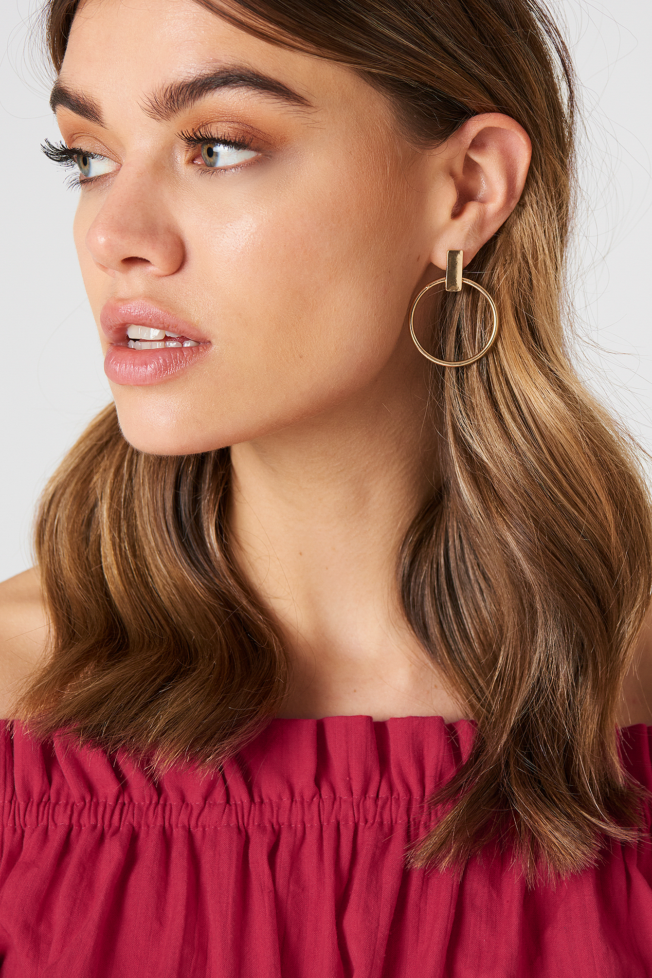 Hanging Round Hoop Earrings NA-KD.COM