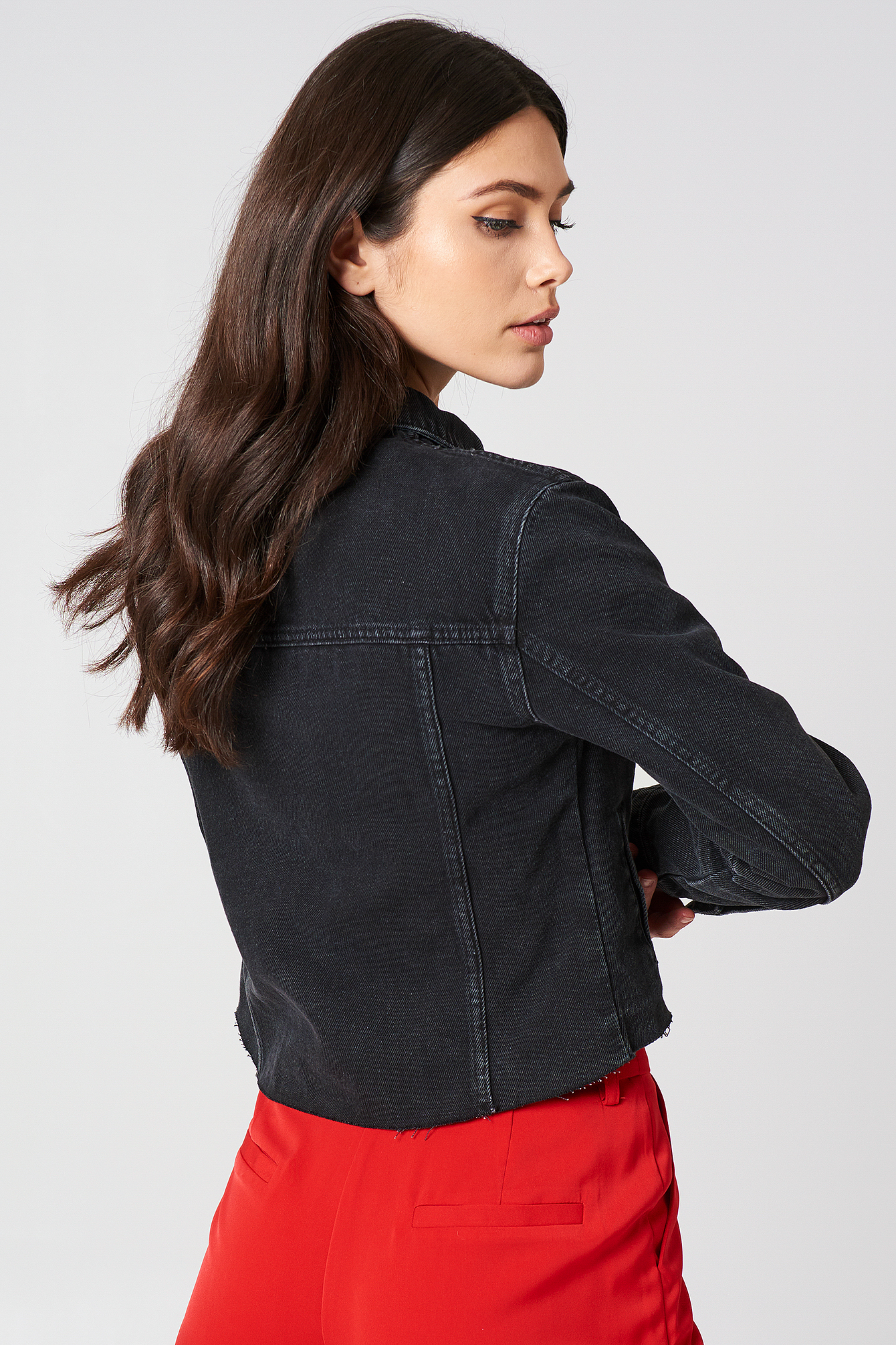 Raw Hem Denim Jacket NA-KD.COM