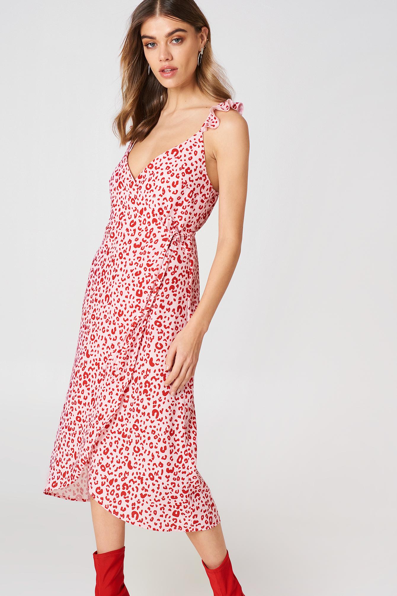 Overlap Midi Dress NA-KD.COM