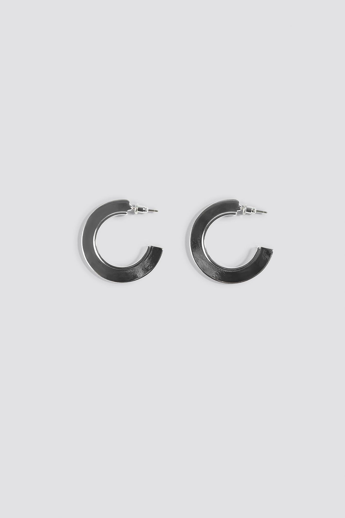 Panel Hoop Earrings NA-KD.COM