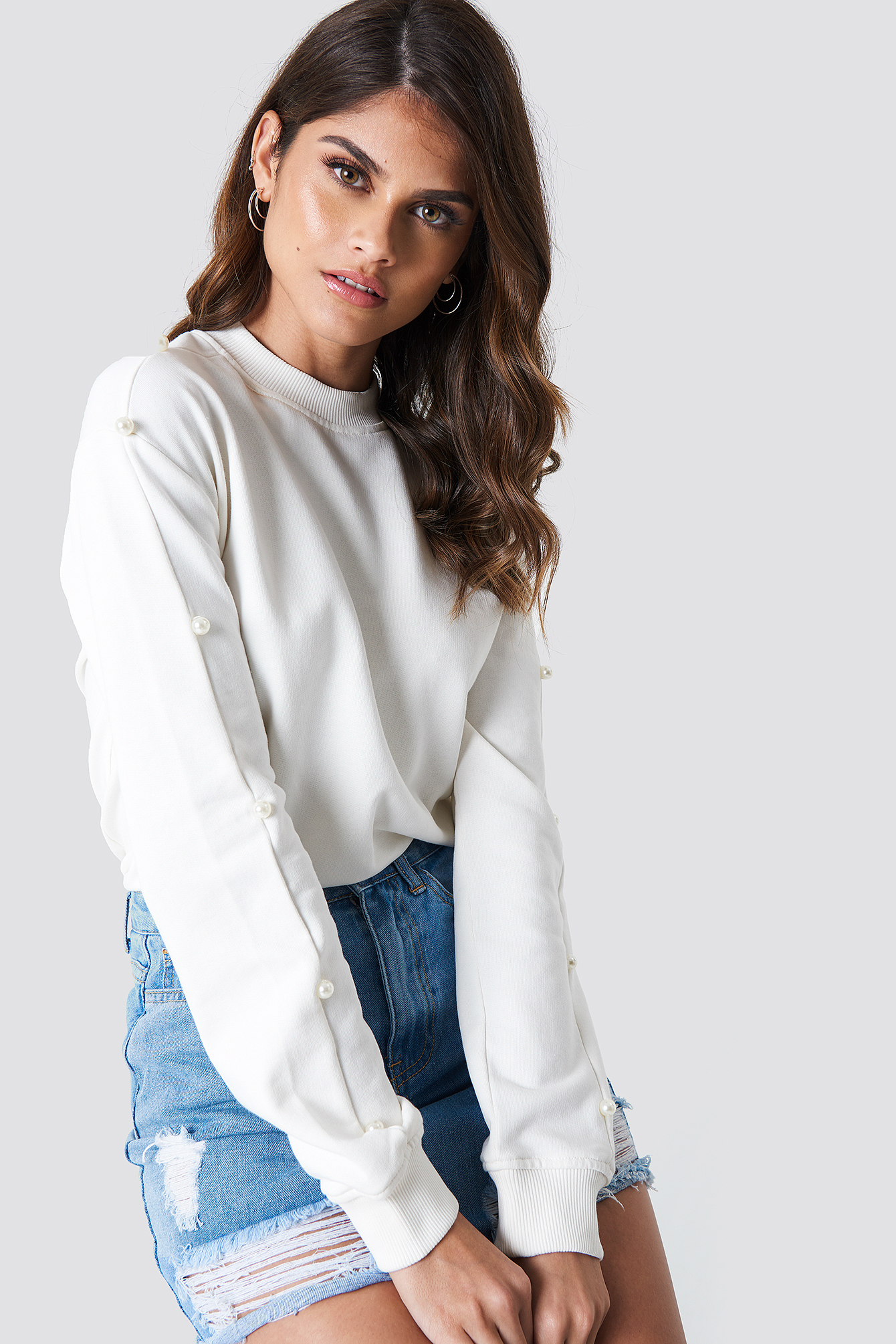 Pearl Sleeve Sweater NA-KD.COM