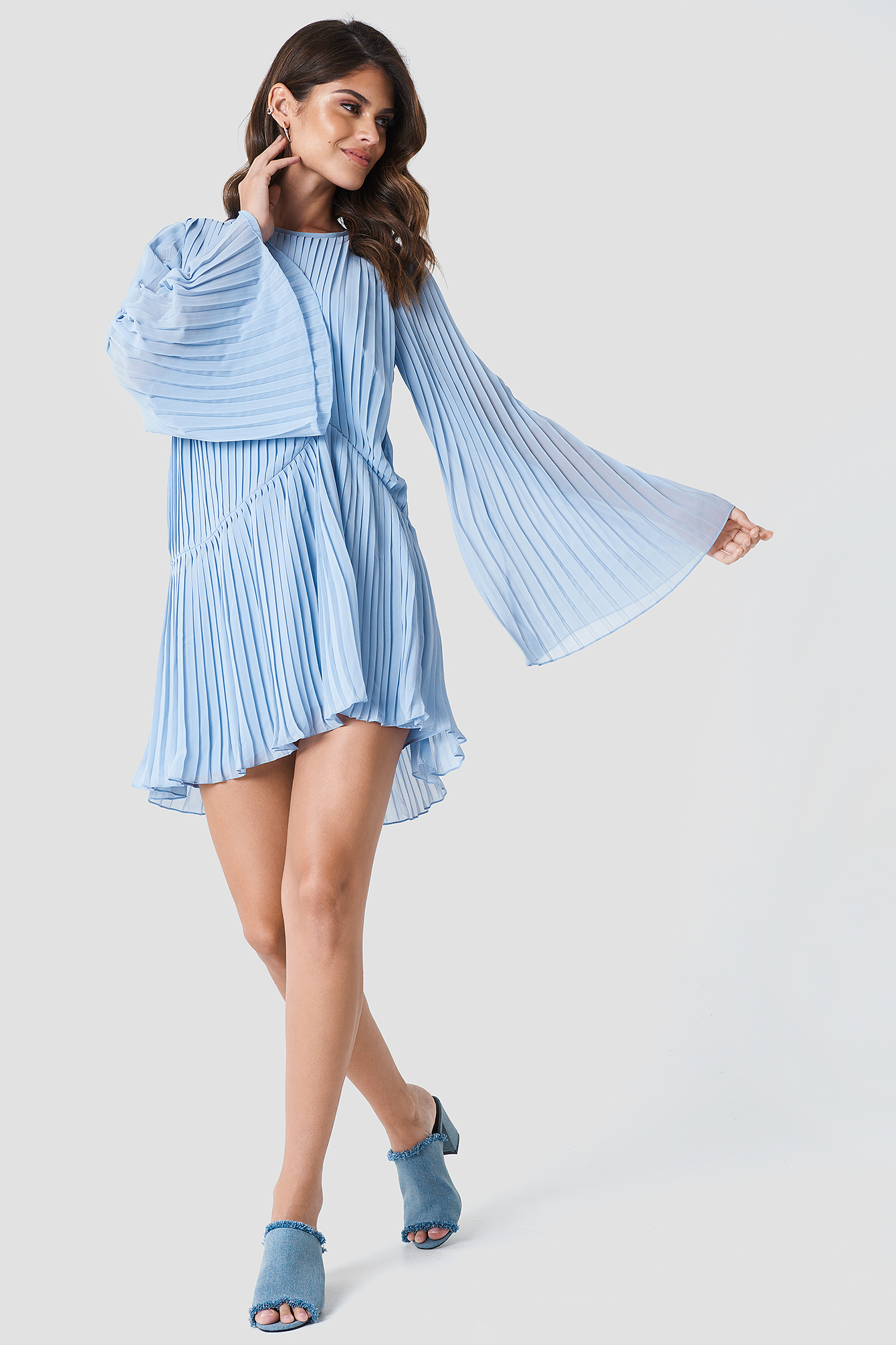 Pleated Asymmetric Flounce Dress NA-KD.COM
