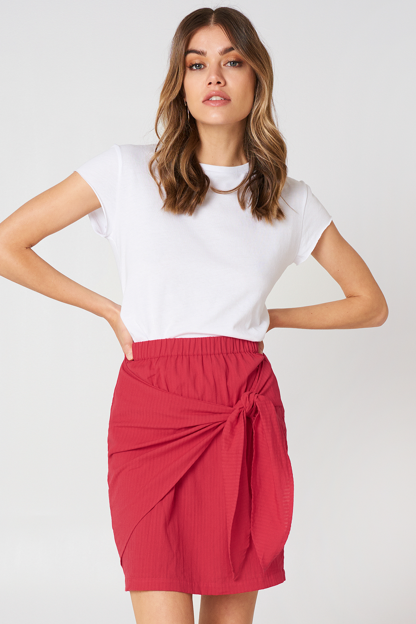 Red Side Knot Skirt