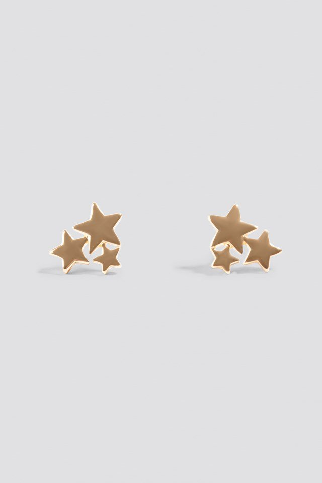 stud gold north stler earrings star a