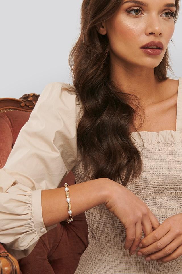 Anette Hovland Pearl Bracelet Gold