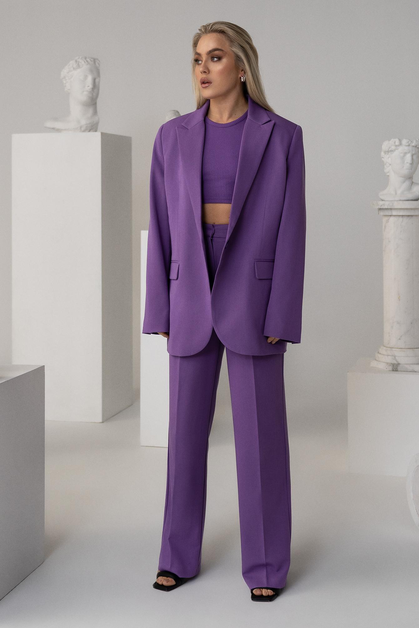 angelica blick x na-kd -  Anzughose Mit Faltendetail - Purple