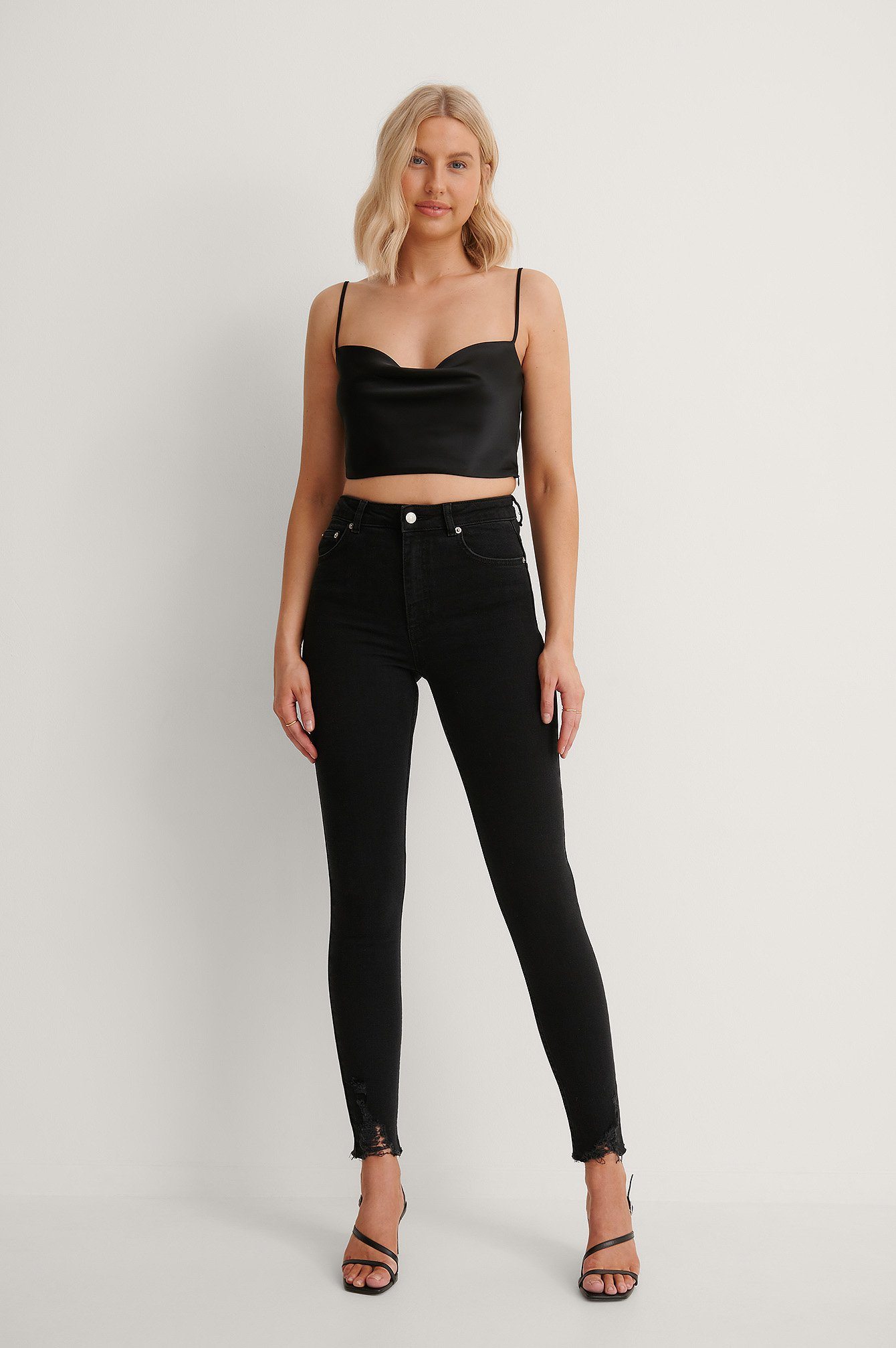 Black Långa Slim Fit Jeans