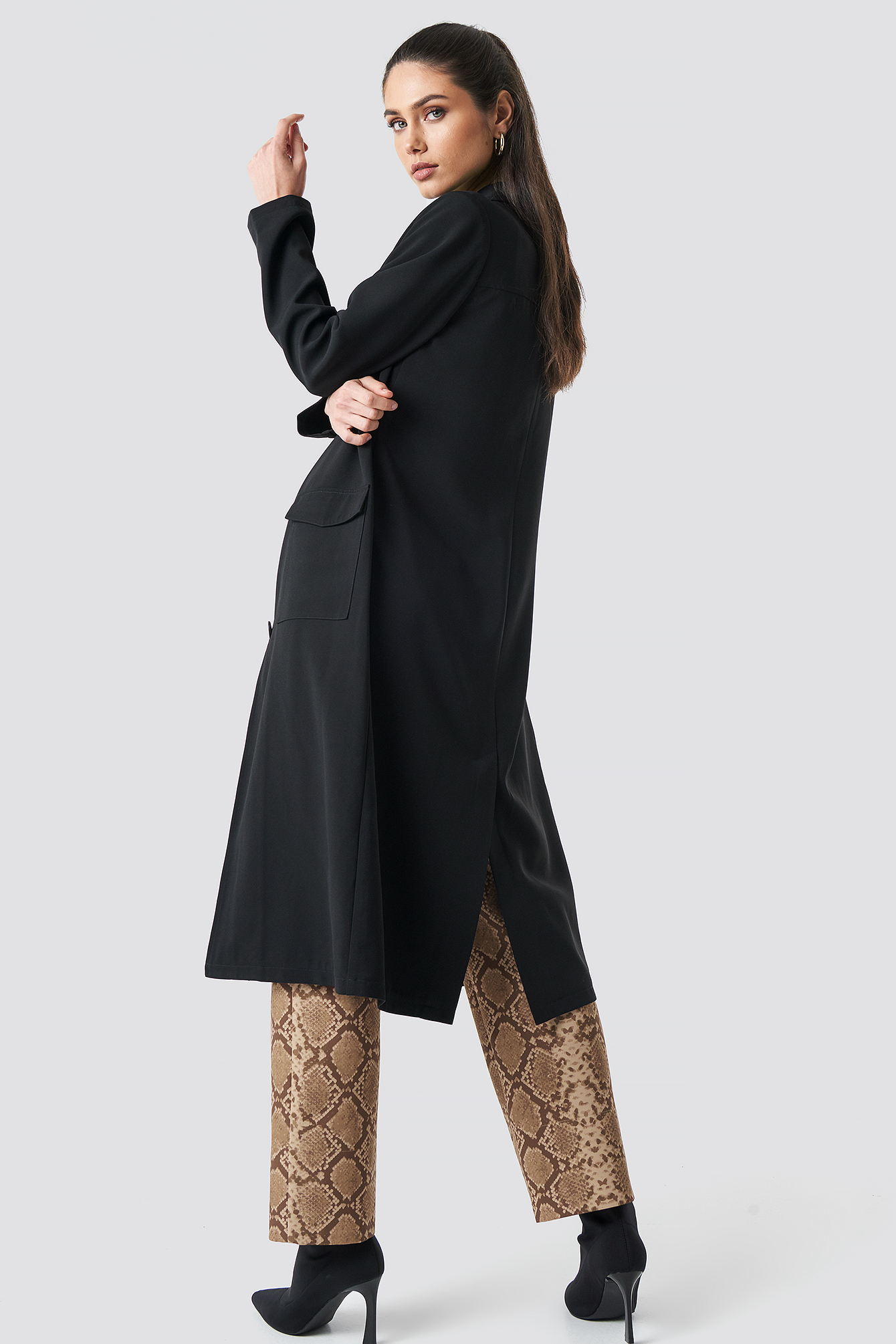 Front Button Ankle Coat NA-KD.COM