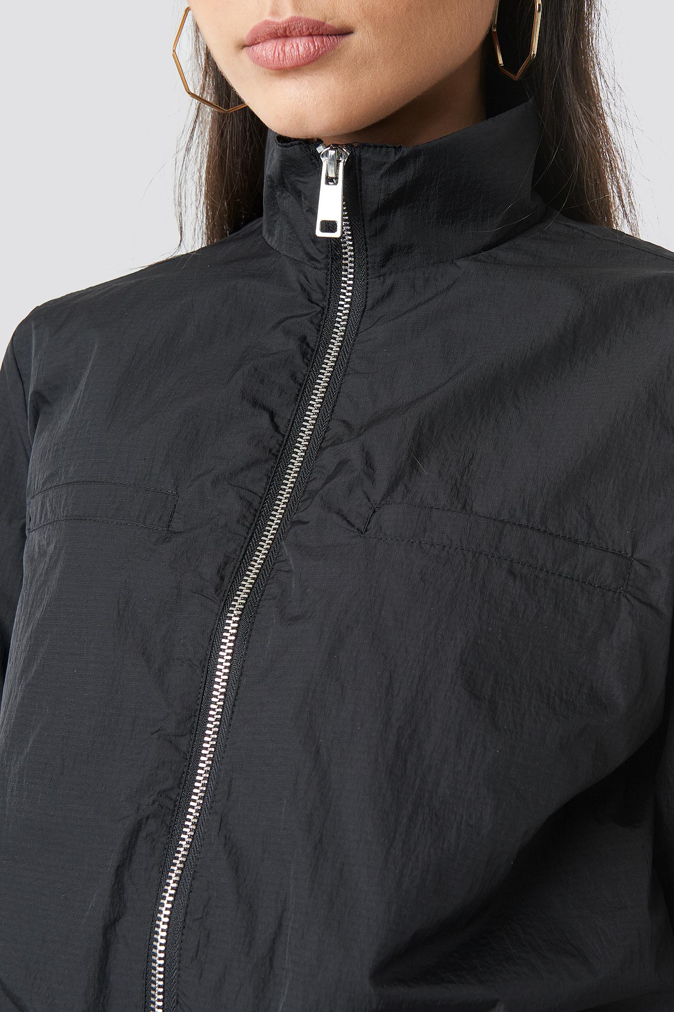 Front Zip Track Jacket NA-KD.COM