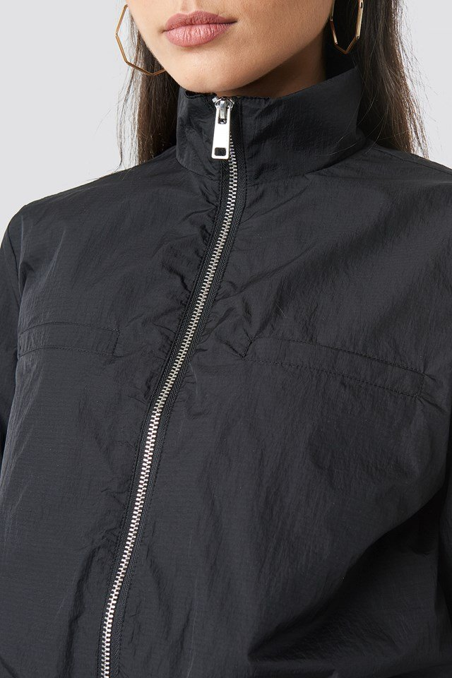 Front Zip Track Jacket Black