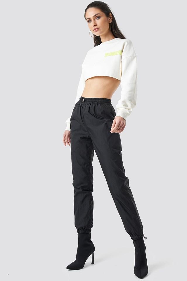 Side Pocket Track Pants Black
