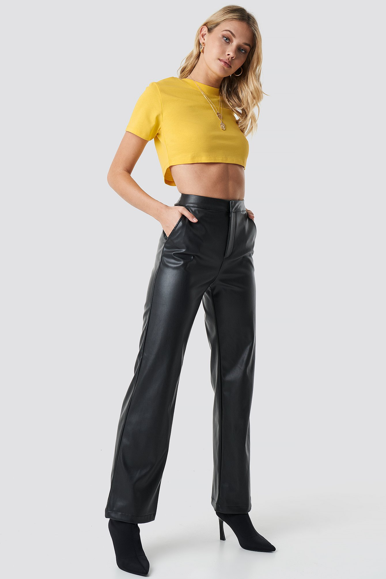 Faux Leather Wide Pants by Anna Nooshin X Na Kd