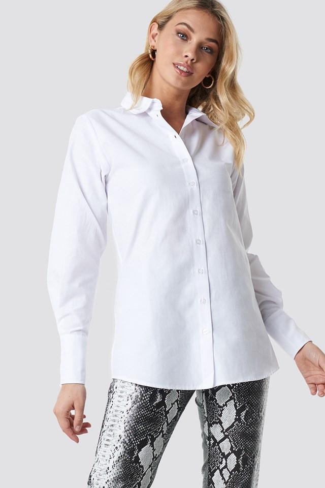 Wide Cuff Classic Shirt White