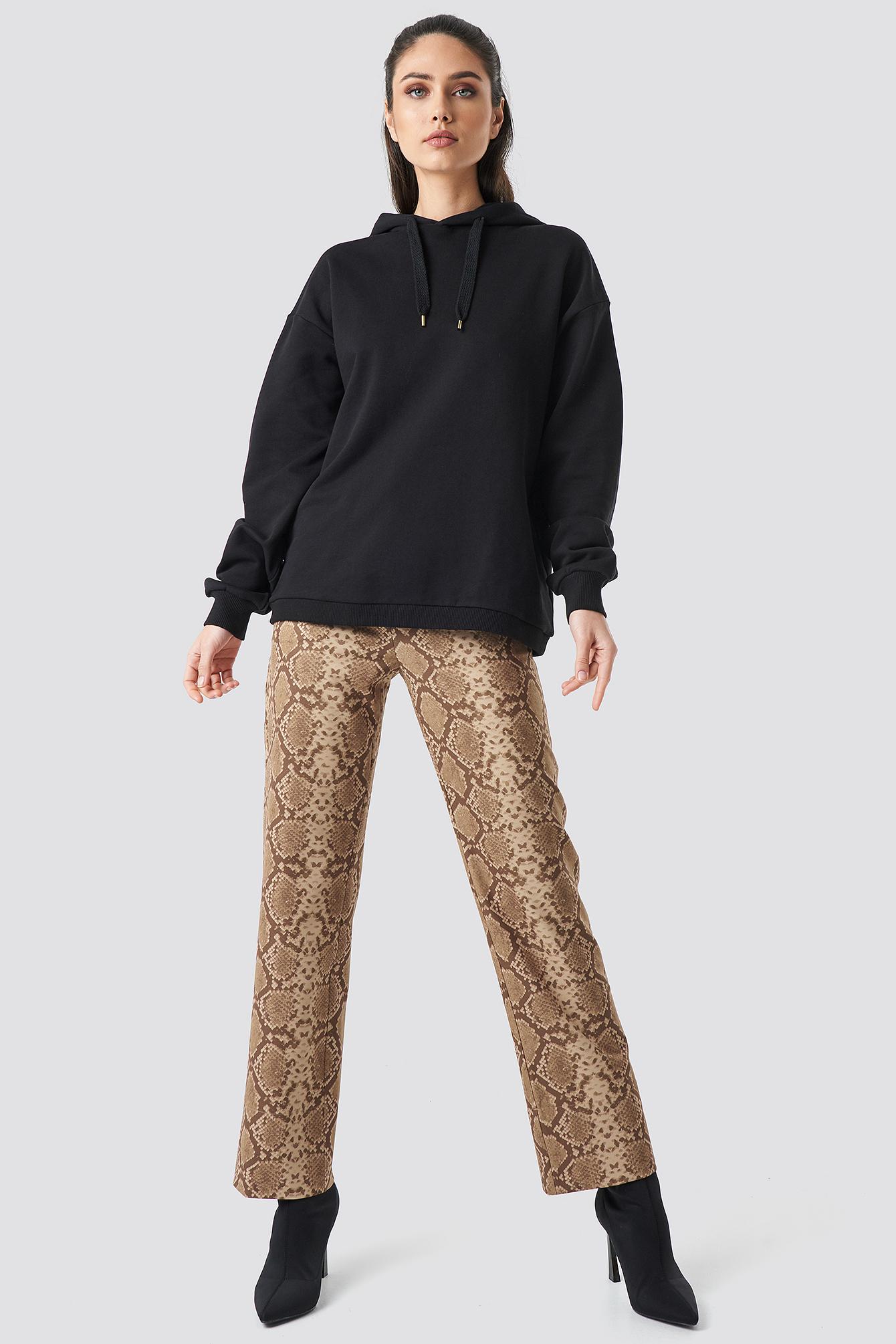 Straight Shape Oversized Hoodie NA-KD.COM