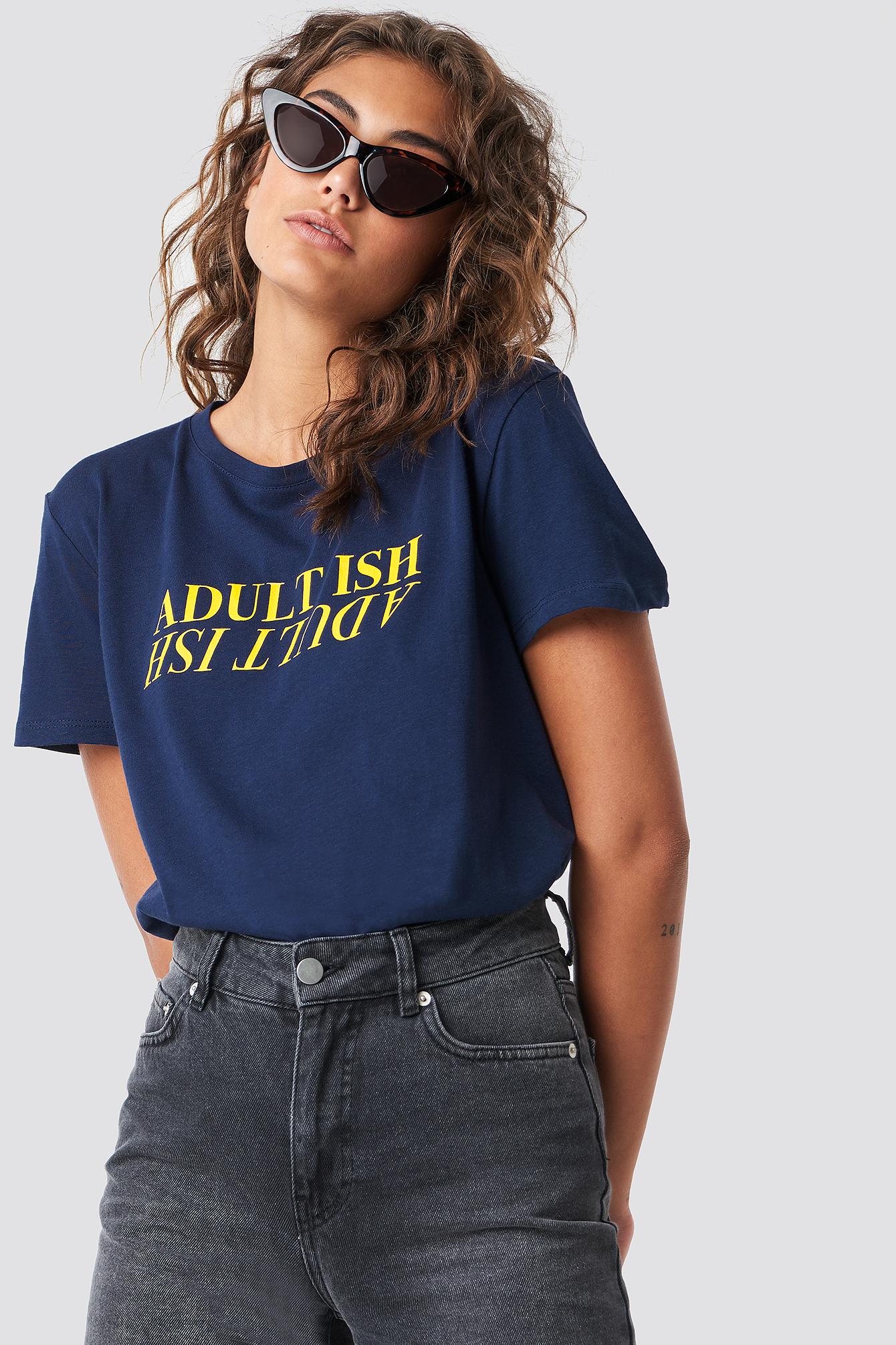 ASTRIDOLSENXNAKD ADULT ISH TEE - BLUE