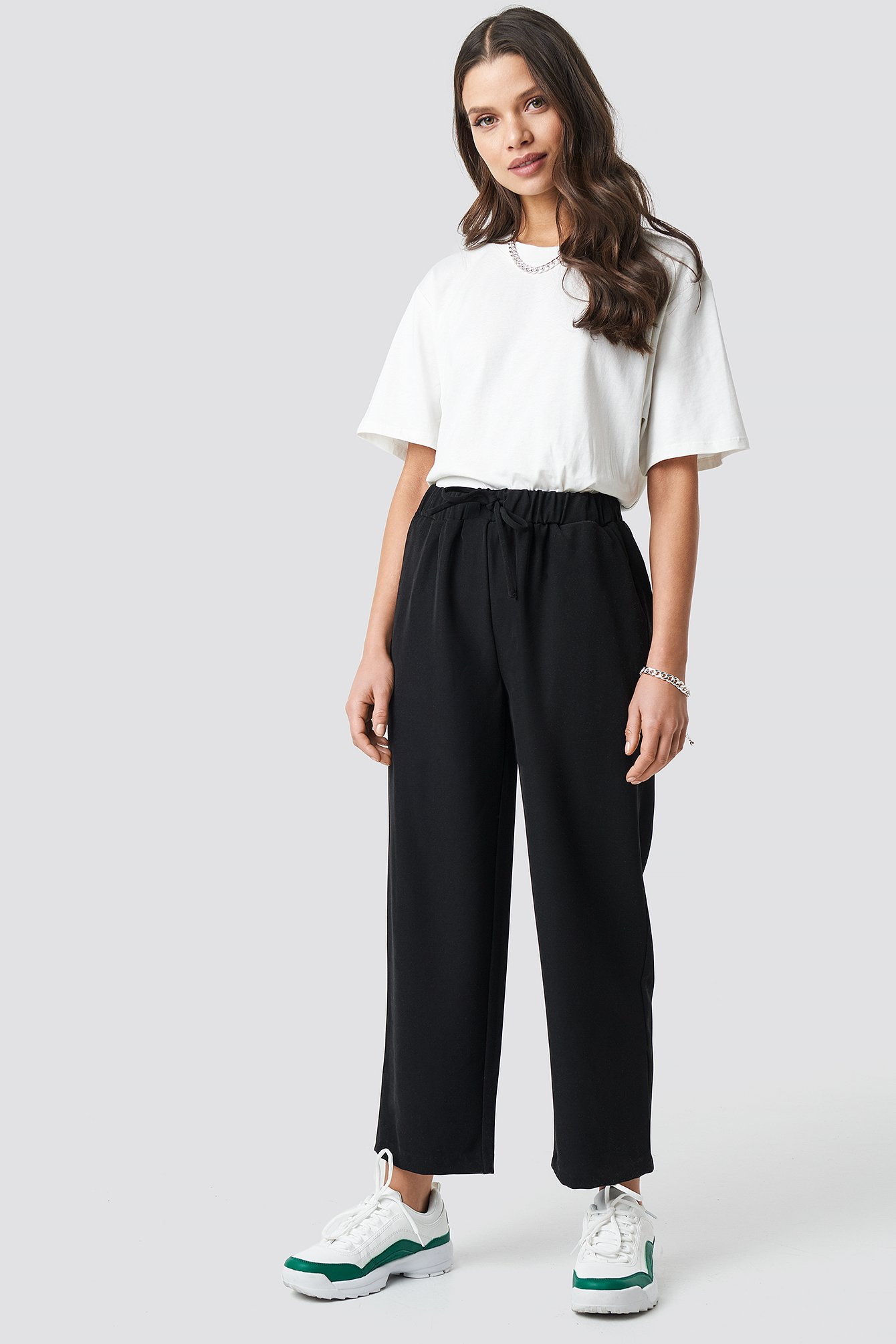 astrid olsen x na-kd -  Drawstring Suit Pants - Black