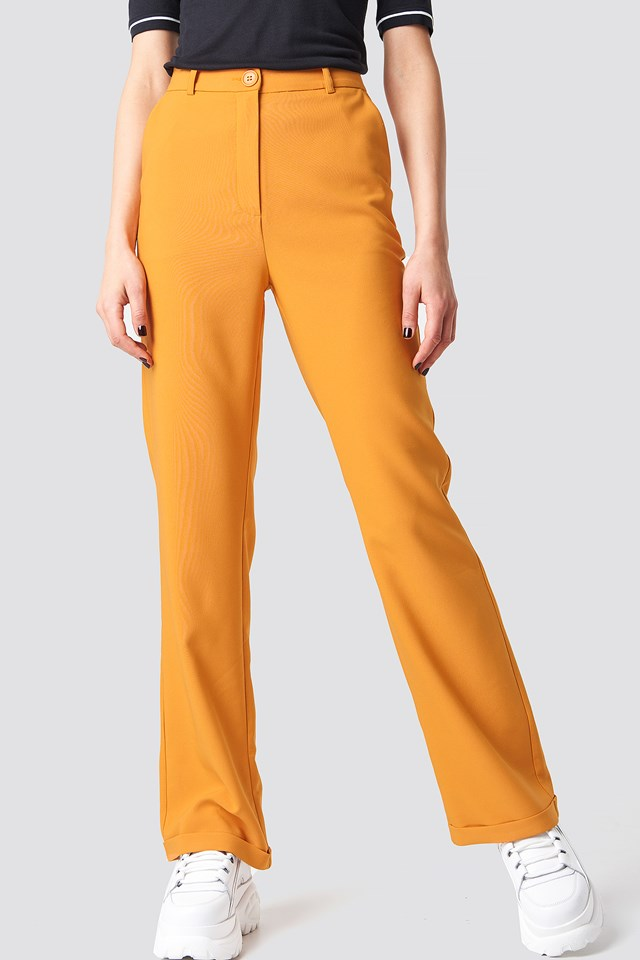 Folded Suit Pants Burnt Orange