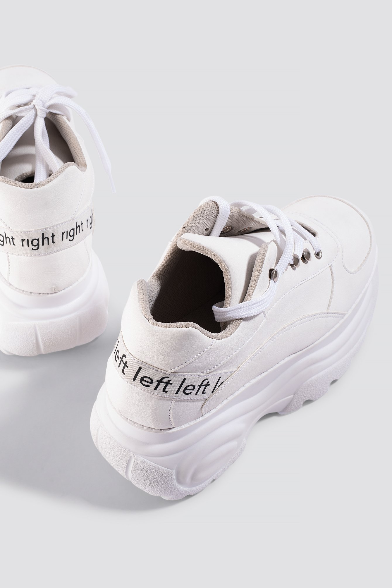 ASTRID OLSEN X NA-KD Platform Sneaker - White