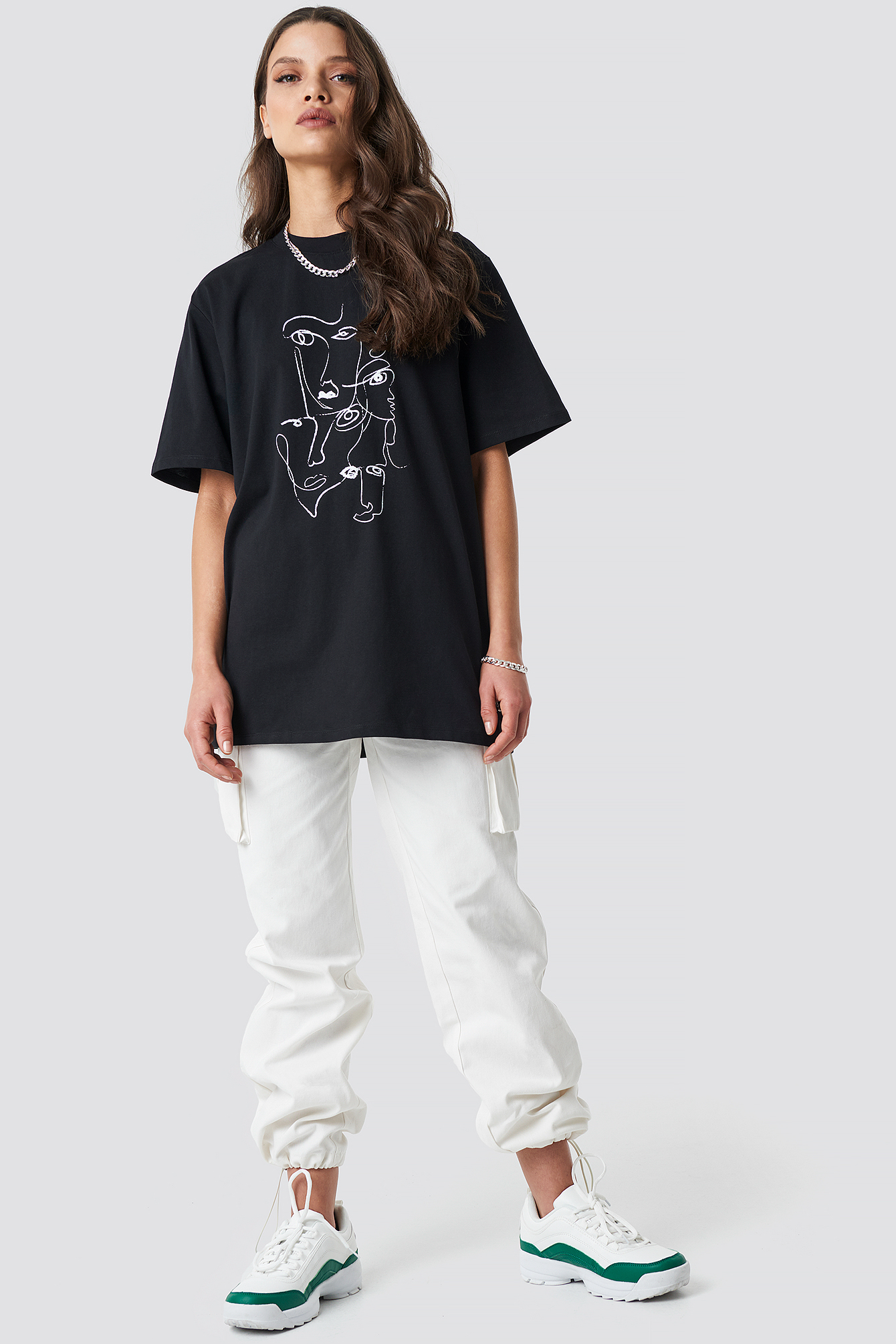Printed Face Oversize Tee NA-KD.COM