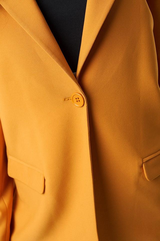 Single Button Blazer Burnt Orange
