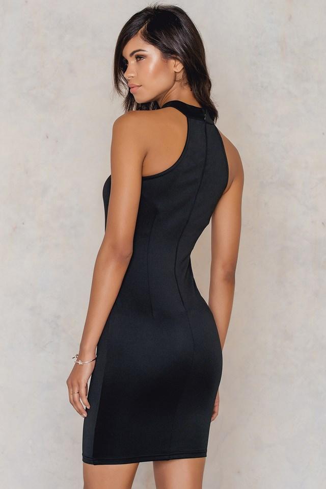 Cut Out Bodycon Dress Black