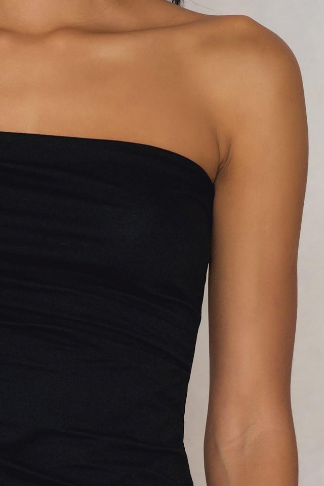 Big Wrap Jersey Top Black