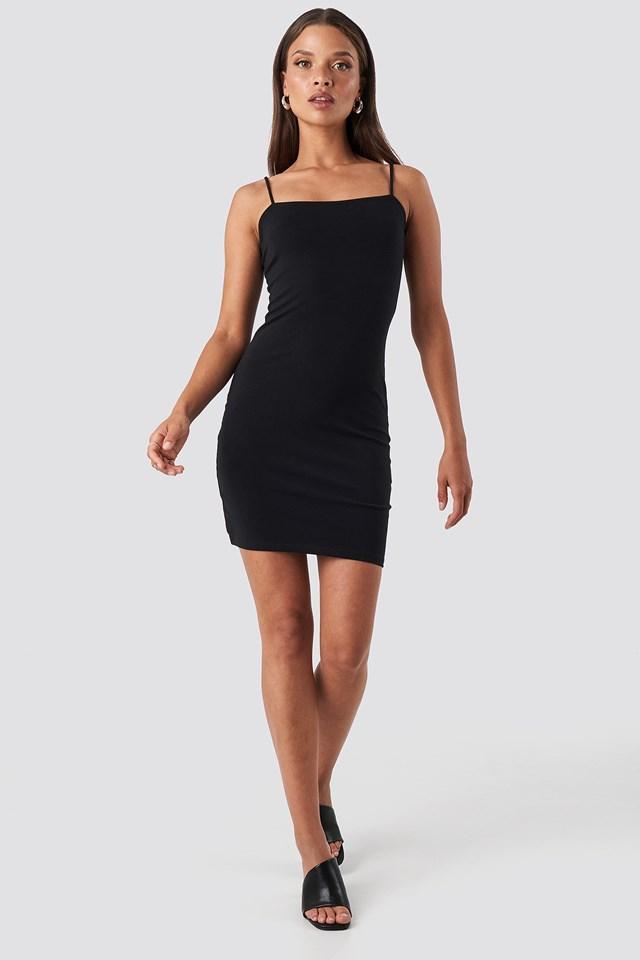 Bandeau Cami Mini Dress Black