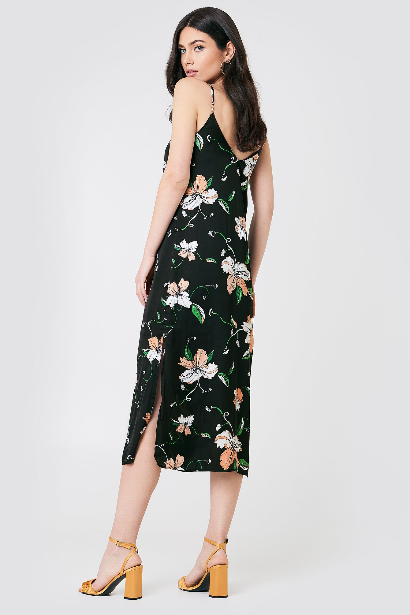 Hibiscis Slip Dress NA-KD.COM