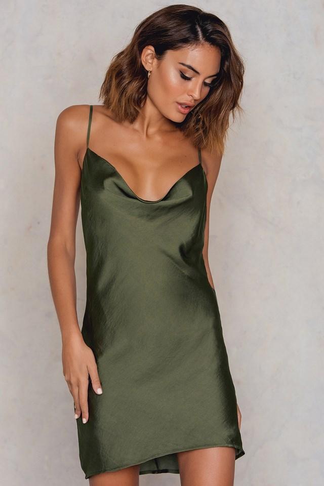 Strappy Slip Dress Khaki