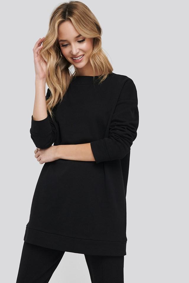 Basic Long Sweater Black