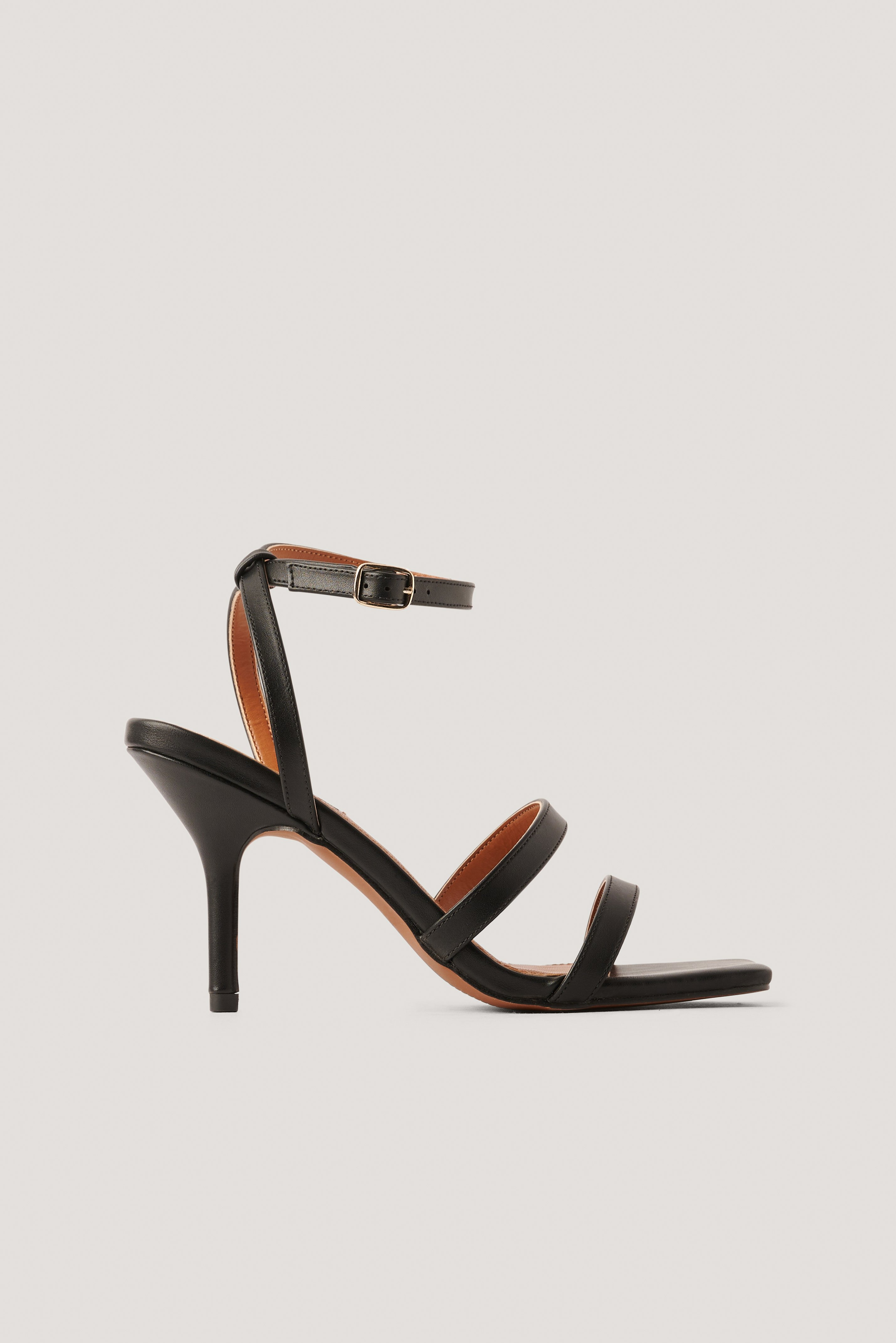 NA-KD Shoes Basic Strappy Heels - Black