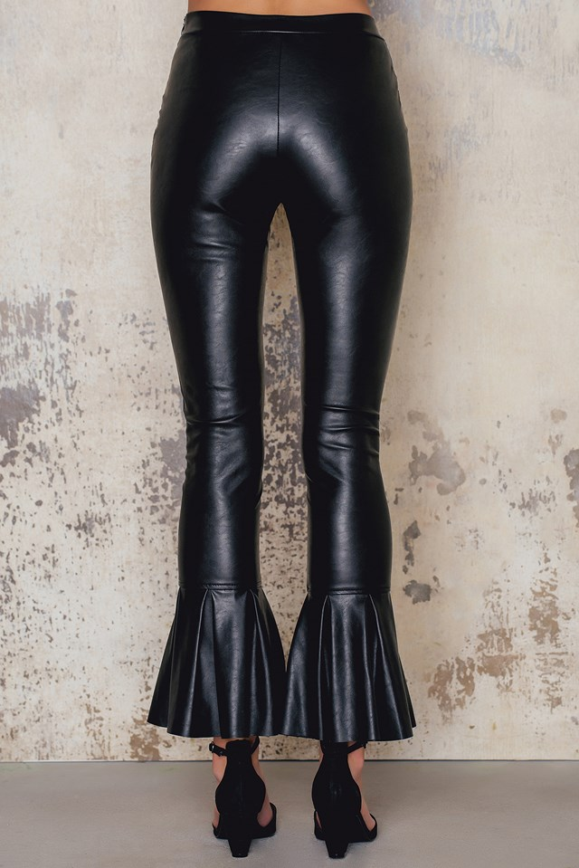 Trumpet Leather Pants Black